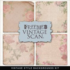 Far Far Hill - Free database of digital illustrations and papers: Freebies Vintage Style Backgrounds