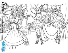 Fairy Wings Barbie Coloring Page More A Secret Pages On Hellokids