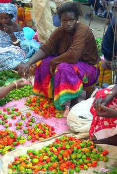 Street market in Senegal°°
