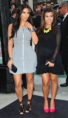 Kim Kardashian and Kourtney Kardashian and Mason