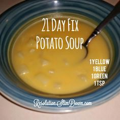 Yummy 21 Day Fix Potato Soup Recipe!