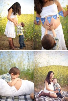 Sooo sweet, Mom and Son Maternity Session - On to Baby