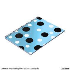 Dots On Blended SkyBlue Spiral Notebook