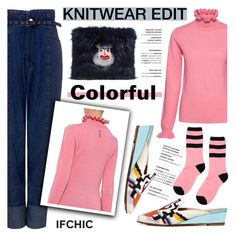 """""""The Knitwear Edit: Colorful!"""" by ifchic ❤ liked on Polyvore featuring Shrimps, Rachel Comey and contemporary"""