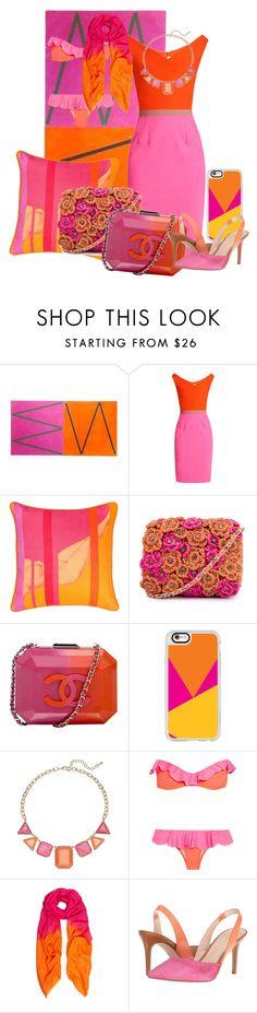 """Orange & Pink"" by morningsjoy ❤ liked on Polyvore featuring Emilio De La Morena, BIVAIN, Chanel, Casetify, Je m'en fous, Allegra London and Nine West"
