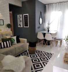 Small Apartment Interior, Small House Interior Design, Small Apartment Living, Small Apartment Decorating, Home Room Design, Luxury Homes Interior, Home Living Room, Living Room Designs, Living Room Decor