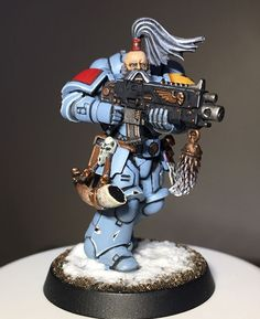 And I think I'm happy to call my very first Space Wolves Primaris done. Really chuffed with how he's come out. I've been back to for about 6 weeks now, after being away from the game for around 15 years. Now just to do the rest of the box! Warhammer Models, Warhammer 40000, Warhammer 40k Space Wolves, Wolf Stuff, Warhammer 40k Miniatures, Game Workshop, Minis, Space Marine, Tabletop Games
