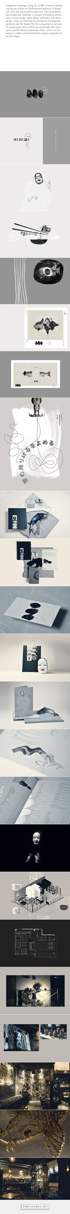 Ninigi identity packaging branding on Behance by yy curated by Packaging Diva PD This pin is long but it's worth every frame.