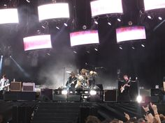 My first Foo's concert.  Milton Keynes 2011, Biffy Clyro, Death Cab for Cutie supported and man, it was one hell of a gig.  Cameo's by none other than Roger Taylor and Alice Cooper kept all 70,000 of us bouncing until the fireworks.