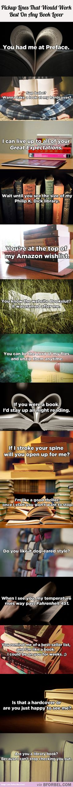 15 Pickup Lines That Would Work On Any Book Lover…