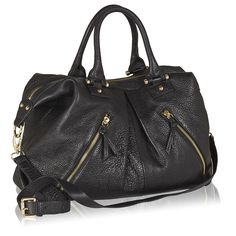 Naledi Copenhagen NB22 2-zip tote Black leather with goldtone hardware