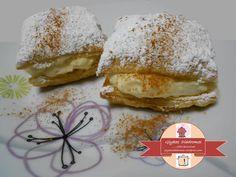 Milfedakia - Μini millefeuilles / glykesdiadromes.wordpress.com Camembert Cheese, Wordpress, Dairy, Sweets, Food, Gummi Candy, Candy, Essen, Goodies