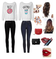 """""""Best Friends"""" by lt44423 ❤ liked on Polyvore featuring Yves Saint Laurent, Topshop, Fiebiger, Love Moschino, Aspinal of London, women's clothing, women, female, woman and misses"""