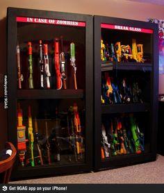 storage for toy guns...for the Zombie Apocalypse!!