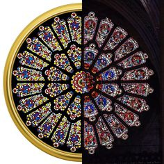 The dazzling symmetry of his Rose Window, constructed of butterflies and metallic paint on canvas, in which the fragility and extravagant color becomes the basis for a circular ornamental mosaic – straightforwardly replicates the medieval rose window at Durham Cathedral. It's a recurring image in art history, the butterfly as the soul: fragility and mortality as a fragile beauty of life. ⠀ Courtesy Gary Tatintsian Gallery and the artist. Durham Cathedral photo by Peter Swan.  #damienhirst… Durham Cathedral, Rose Window, Damien Hirst, Museum Exhibition, Butterfly Wings, Metallic Paint, Stained Glass Windows, Art History, Swan