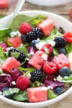 Watermelon Feta Salad by chefsavvy #Salad #Watermelon #Feta