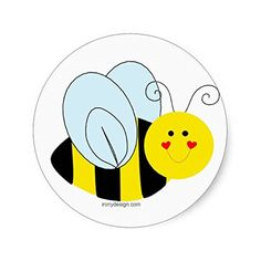 Amazon.com: Cute Bee Sticker: Toys & Games