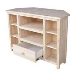 International Concepts Corner TV Stand in Unfinished-TV-49 - The Home Depot