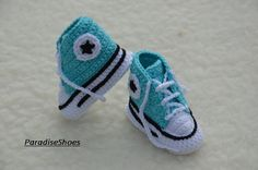 crochet conversecrochet shoes by ParadiseShoes on Etsy