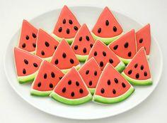 Watermelon Slice Cookies from @SweetSugarBelle {Callye Alvarado}