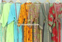 Assorted Kimono robe lot, Cotton robes, Soft cotton kimono, Bridesmaid Gifts Bridal party robe Wedding Robe Gifts for Her Boho Kimono, Kimono Fashion, Women's Fashion, Bridal Party Robes, Bridal Gifts, Cotton Kimono, Cotton Saree, Wedding Kimono, Quality Lingerie
