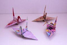 Paper crane ツル paper crane origami 折り紙 おりがみ 折り鶴
