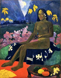 Paul Gauguin I The Seed of the Areoi. Dimensions: w721 x h921 mm