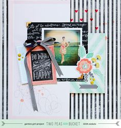 #papercraft #scrapbook #layout    All about me: Do what makes you happy by Lilith Eeckels
