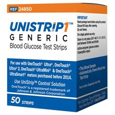 The UniStrip Glucose Test Strips work with all OneTouch Ultra meters without costing you as much as brand name strips. Buy them here at Total Diabetes Supply! Blood Glucose Monitor, Glucose Test, Type 1 Diabetes, Diabetes Supplies, Diabetic Test Strips, Diabetes In Children, Diabetes Information, Diabetes Treatment