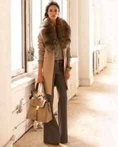 jacket, wide leg pants, camel, fall fashions, collar