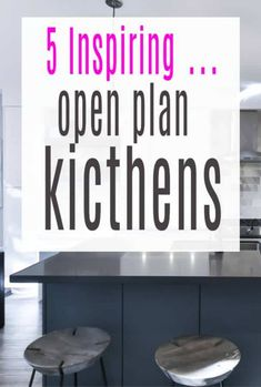 5 inspiring open-plan kitchens to help you choose the kicthen decor and kitchen design that works for you Stylish Home Decor, Fall Home Decor, Cheap Home Decor, Open Plan Kitchen, Diner Decor, Luxury Homes Interior, Interior Design, Home Remodeling, Handmade Kitchens