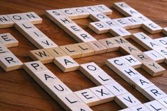 DIY Grandma's Scrabble Wall Art