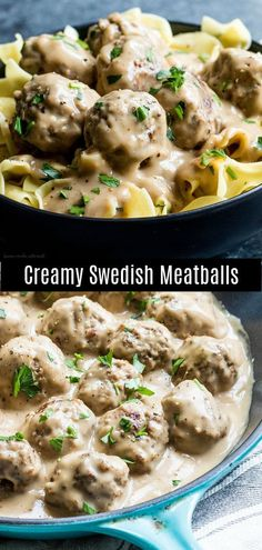 Easy Swedish Meatballs are a traditional Swedish dish with perfectly browned, flavorful homemade meatballs coated in a r Ground Beef Recipes Easy, Beef Recipes For Dinner, Meat Recipes, Cooking Recipes, Easy Ground Beef Meatball Recipe, Ground Beef And Noodle Recipe, Healthy Beef Recipes, Chicken Recipes, Swedish Meatball Recipes