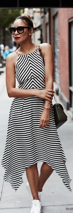 Black And White Stripes / Fashion by Stuff She Likes