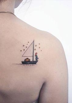 70 Small and Adorable Tattoos by Ahmet Cambaz from Istanbul - TheTatt Form Tattoo, Shape Tattoo, Mini Tattoos, Small Tattoos, Cool Tattoos, Flower Tattoos, Tatoos, Original Tattoos, Segel Tattoo