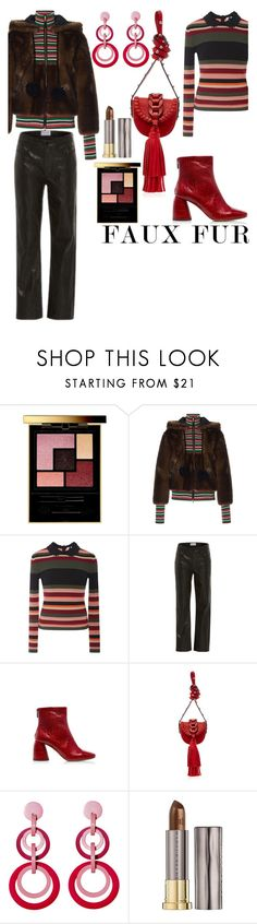 """""""Fax Fur"""" by babi76 ❤ liked on Polyvore featuring Yves Saint Laurent, Stella Jean, RED Valentino, Frame, E L L E R Y, Mochi, Urban Decay and fauxfur"""