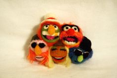 Made to Order: Muppets - Dr. Teeth and the Electric Mayhem PIN/MAGNET - Needle Felted on Etsy, $48.00