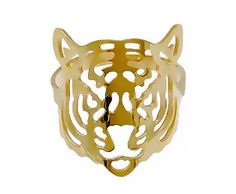 Gold plated 12K tiger ring