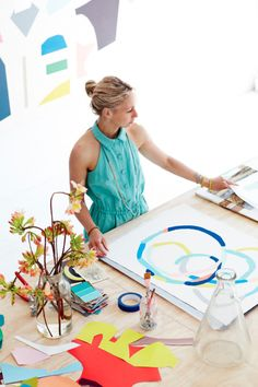 Artist Kirra Jameson at home.  Styling by Jason Grant and photos by Derek Swalwell.