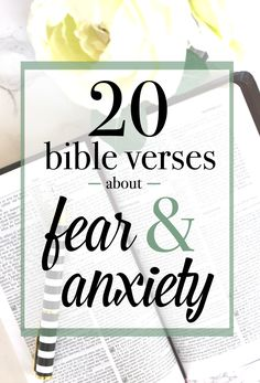 20 Bible verses about conquering fear and anxiety