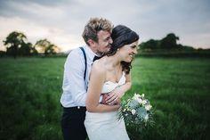 Bride & Groom Portrait - Rustic Tipi Wedding   Justin Alexander   Big Chief Tipis   Kerry Woods Photography