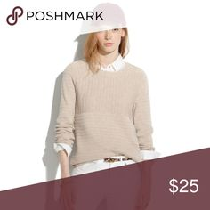 Linear Stitch Sweater Sold out. Nude. Madewell Sweaters Crew & Scoop Necks