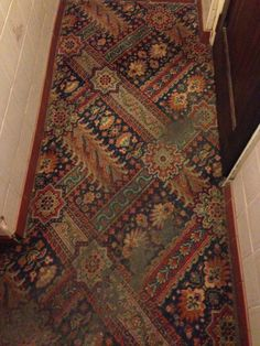 British pub carpet in The Black Bull, Otley, Yorkshire - Jan 2017.