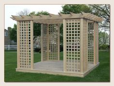Love the lattice for growing vines or trailing plants.  I would add sheers.