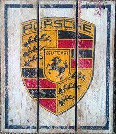 Porsche Vintage suchen Paletten Holz von HotShotPalletworks auf Etsy
