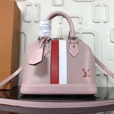 707ac546dc94 Louis Vuitton Stripes Epi Leather Alma BB Bag Pink 2018   Louisvuittonhandbags Vintage Louis Vuitton