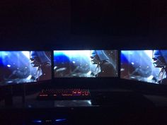 Welcome to my ultra wide triple monitor battlestation