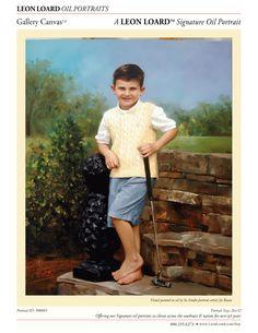 Heirloom oil painting by LEON LOARD™ Oil Portraits Artist Jie Ruan, Child, Gallery Canvas, Boy, 300083