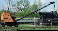 Net Photo: none Grand Trunk Western Burro Crane at Owosso, Michigan by Robert C. Owosso Michigan, Vintage Trains, Railroad Pictures, Rail Car, Car Tools, Rolling Stock, Train Tracks, Model Trains, Locomotive