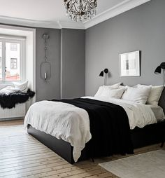 A lovely grey and white bedroom - Is To Me